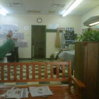 Photo taken at Lansdowne Barber Shop by Chris M. on 6/30/2012