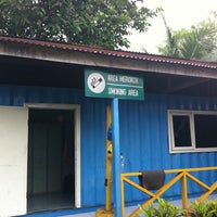 Photo taken at Smoking Area Main Workshop Tyre Pama Indo by Tonz H. on 7/25/2011
