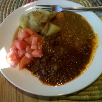 Photo taken at Bayu's Authentic Ethiopian Cuisine by Kim R. on 2/10/2012