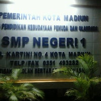 Photo taken at Smp 1 madiun by Anharul H. on 9/1/2011