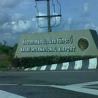 Photo taken at Krabi International Airport (KBV) by phakjira s. on 7/25/2012