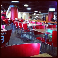 Photo taken at Manchester United Red Café by L S. on 10/14/2011