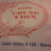 Photo taken at Chifa Chung Yion by Oscar Martín L. on 5/1/2012