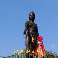 Photo taken at Statue of Queen Chamadevi by Joy L. on 12/30/2011