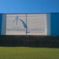 Photo taken at Pontificia Universidad Católica De Puerto Rico by vlad m. on 12/5/2011