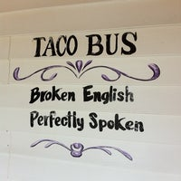 Photo taken at Taco Bus by David V. on 2/22/2011