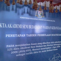 Photo taken at Akademi Seni Budaya dan Warisan Kebangsaan (ASWARA) by fikar k. on 12/11/2011