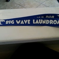 Photo taken at Big Wave Laundromat by Rocio Z. on 1/21/2012