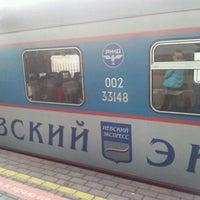 Photo taken at Поезд № 748 «Невский экспресс» Москва — Санкт-Петербург by Oleg R. on 11/18/2011
