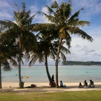 Photo taken at Ypao Beach Park by Scarlett C. on 8/17/2011