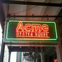 Photo taken at Acme Oyster House by Jeff B. on 11/28/2011