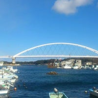 Photo taken at 志摩大橋 by Kenshi H. on 1/2/2012