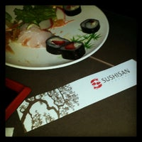 Photo taken at Sushi San by Nanne M. on 7/31/2012