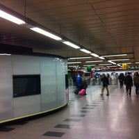 Photo taken at Metro Moncloa by Bernabé .. on 12/2/2011