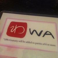 Photo taken at Wa Sushi by Joey M. on 10/2/2011