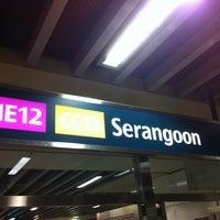 Photo taken at Serangoon MRT Interchange (NE12/CC13) by Sean.T on 8/15/2012