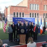 Photo taken at P.S. 069 Jackson Heights by Mike Bloomberg on 11/30/2011