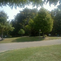 Photo taken at Stiglmeier Park (Losson Park) by Julie J. on 9/3/2011