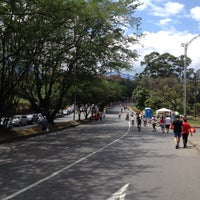 Photo taken at Ciclovía Avenida El Poblado by Pablo R. on 3/18/2012