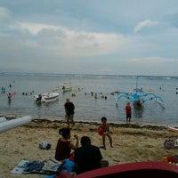 Photo taken at Pantai Segara Ayu by Bielz R. on 4/29/2012
