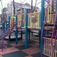 Photo taken at Sara Delano Roosevelt Park Playground by Ben L. on 3/4/2012