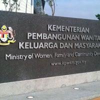 Photo taken at Kementerian Pembangunan Wanita, Keluarga dan Masyarakat (KPWKM) by Suria Kencana H. on 11/1/2011