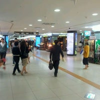 Photo taken at Gangnam Stn Underground Shopping Mall by Simon Y. on 9/26/2011