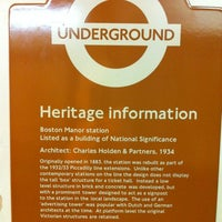 Photo taken at Boston Manor London Underground Station by Richard G. on 1/1/2012