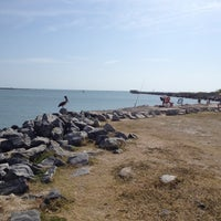 Photo taken at Jetty Park by Friday S. on 3/29/2012