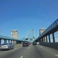 Photo taken at Benjamin Franklin Bridge by Mica C. on 7/6/2012