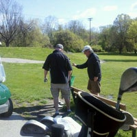 Photo taken at Carroll Park Golf Course by Pirate Cupcakes on 4/9/2012