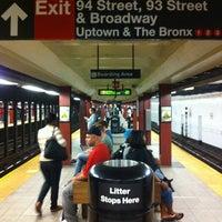 Photo taken at MTA Subway - 96th St (1/2/3) by John C. on 6/8/2012