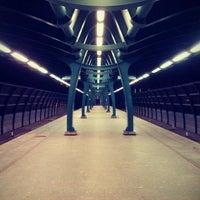 Photo taken at metro Ulitsa Gorchakova by Capitan C. on 8/15/2012