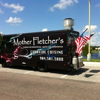 Photo taken at Mother Fletcher's Curbside Cuisine by Stefan B. on 5/9/2012