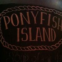 Photo taken at Ponyfish Island by kenji t. on 8/18/2012