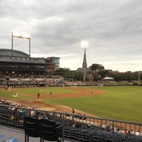 Photo taken at Bragan Field at the Baseball Grounds of Jacksonville by Chris D. on 6/8/2012