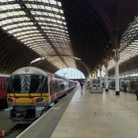 Photo taken at Heathrow Express Train - Paddington [PAD] to Heathrow [HXX] by Yusuke y. on 3/31/2012