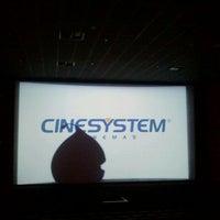 Photo taken at Cinesystem Cinemas by Viviana C. on 4/15/2012
