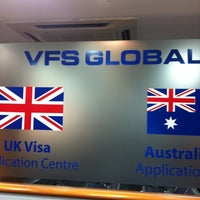 Photo taken at UK Visa Application Centre by Yousef A. on 7/8/2012