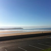 Photo taken at Woolacombe Beach by Colin T. on 2/25/2012