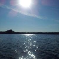Photo taken at Visaginas Beach by Александра 👪 К. on 7/31/2012