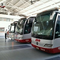 Photo taken at Terminal de Autobuses ADO by Esteban L. on 2/12/2012
