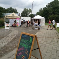 Photo taken at Socrates Park Greenmarket by MellyCupcakez on 8/11/2012