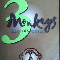Photo taken at 3 Monkeys Bar & Grill by Mark C. on 9/6/2012