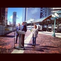 Photo taken at Bellevue Transit Center by Washington State Democrats on 3/23/2012
