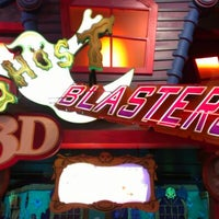 Photo taken at Ghostblasters Dark Ride by Andrew C. on 4/29/2012