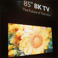 Photo taken at The Sharp Electronics Booth # 10916 by Kévin J. on 1/10/2013