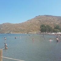 Photo taken at Parıltı Beach by Cenk D. on 7/17/2015