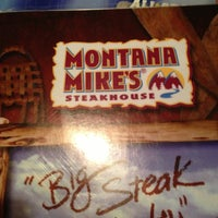Photo taken at Montana Mikes Steakhouse by Chris R. on 7/3/2013