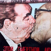 Photo taken at East Side Gallery by Trevor A. on 7/24/2013